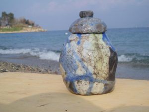 Scatolina porta tè azzurra